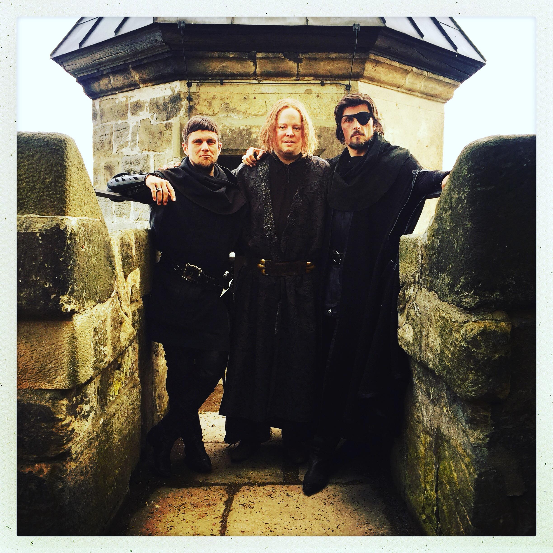 Roland mit Stipe Erceg und Martin Winkelmann auf Burg Kriebstein.