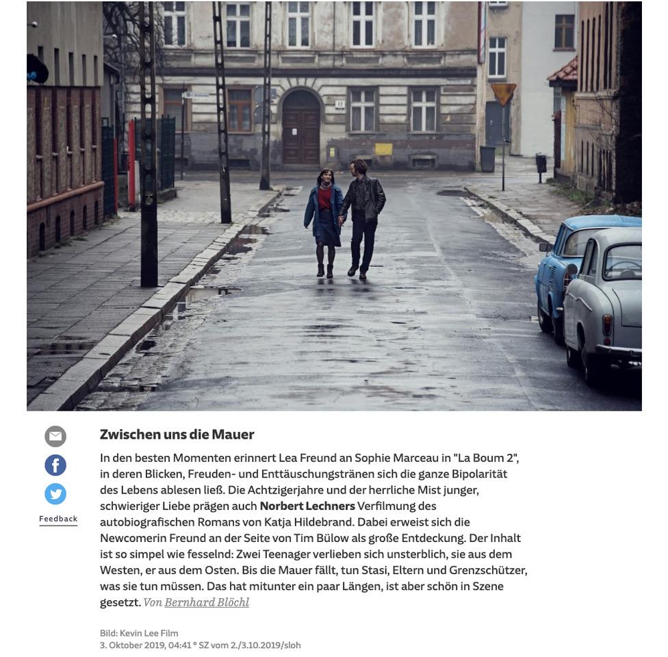 """Lea Freund und wieder geht es um """"Zwischen uns die Mauer""""!"""