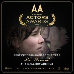 Lea Freund gewinnt den Actors Awards 2020